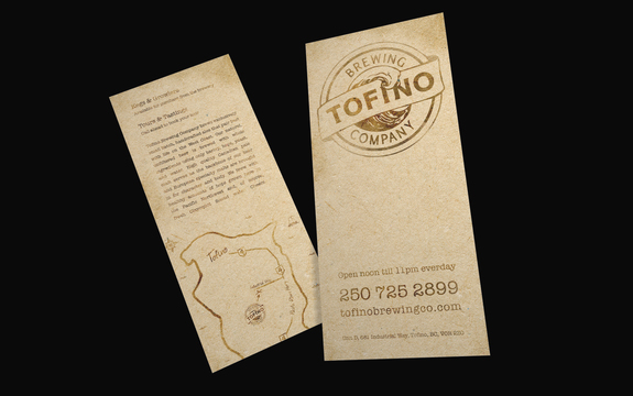 Tofino Brewing - Rack Card Design