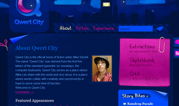 Qwert City - About Page Design