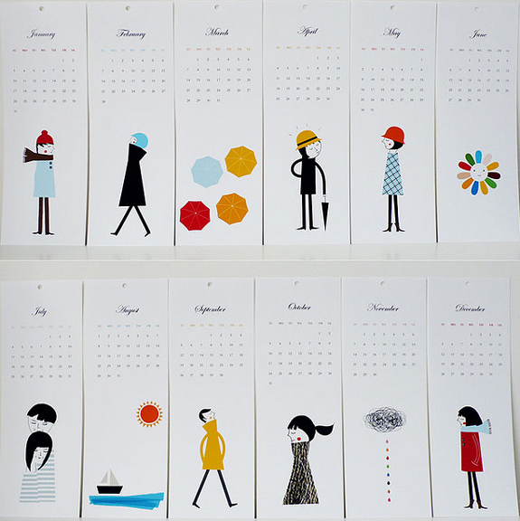 Creative Table Calendar Ideas : Creative calendar design inspiration the work