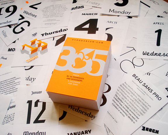 Typographic Tear-off Calendar