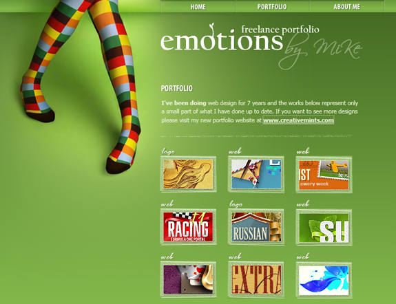 Emotions Live - Portfolio Designs