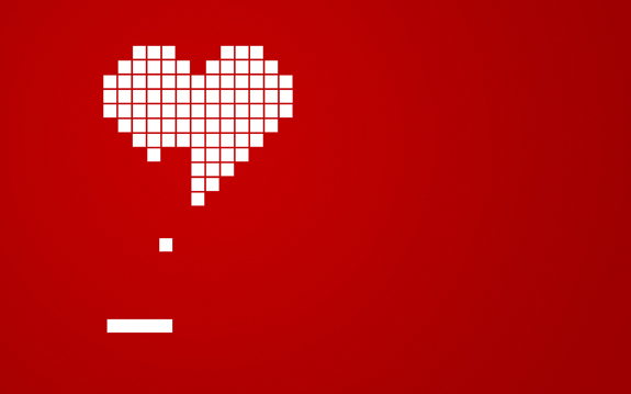 Love Red Breakout Hearts