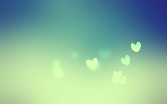 Blue Love Heart Wallpaper