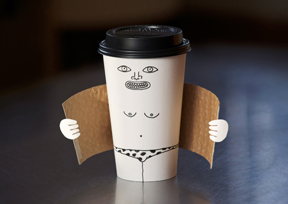 Exhibitionist Coffee Cup - Creative Idea