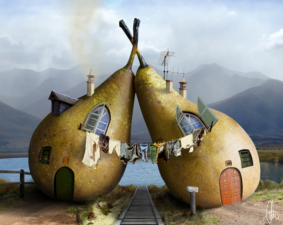Twin Pears House - Conceptual Art