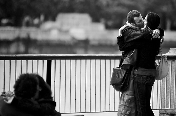 Couple Kiss - Candid Photography
