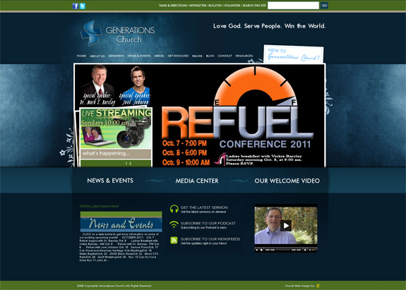Generations Church Web Design