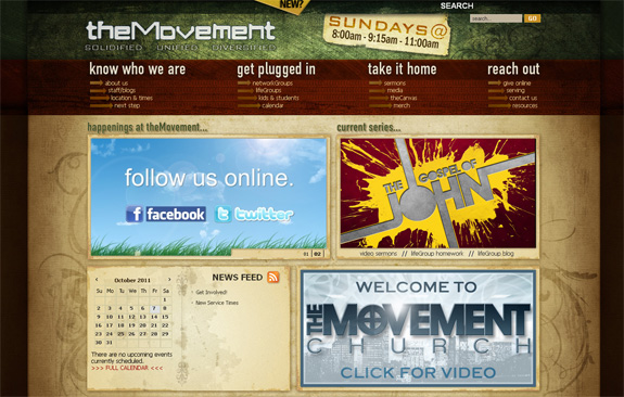 The Movement - Church Web Design