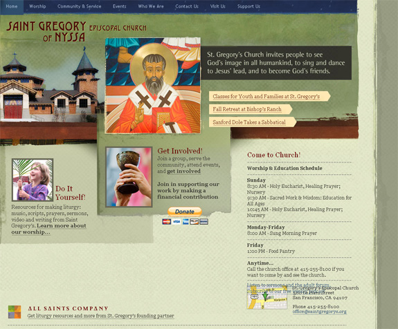 Saint Gregory Episcopal Church Website Design