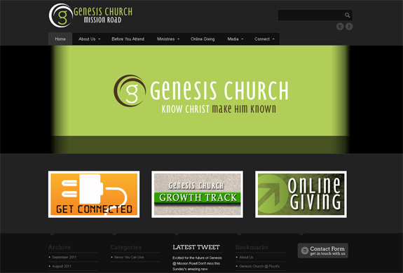 Genesis Church Website Design