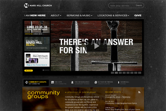 Mars Hill Church Web Design