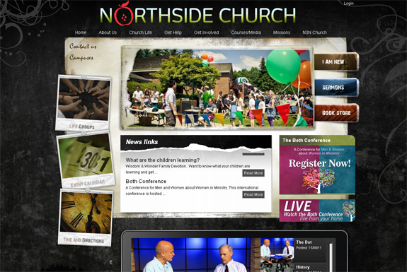 Church Website Design Well Designed C...