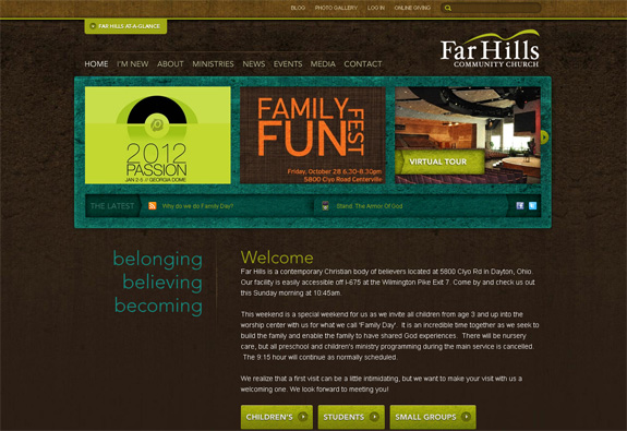 Farhills - Church Website Design
