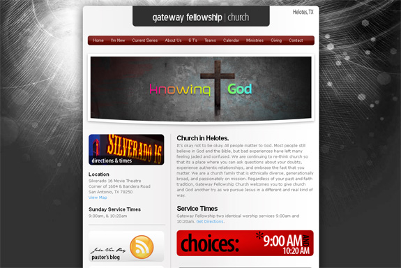 Gateway Fellowship Church Web Design