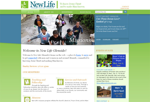 New Life Church Website