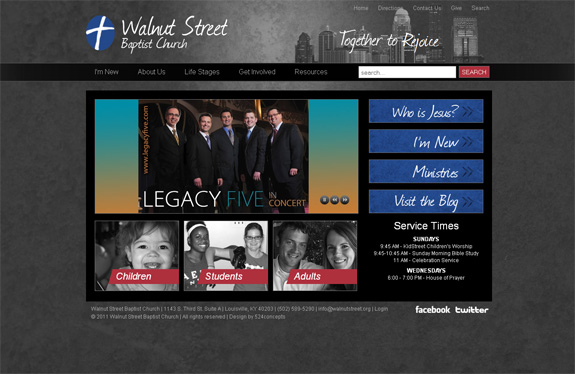 Walnut Street Baptist Church Web Design