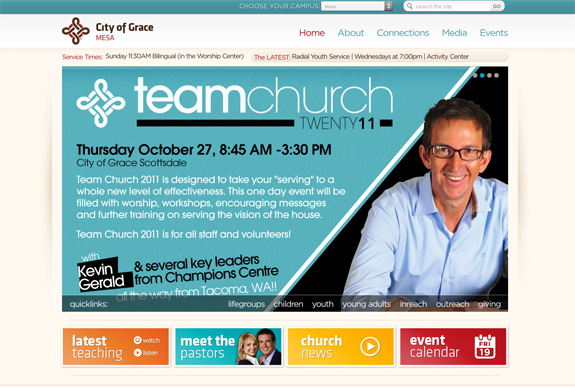 City of Grace - Church Web Layout