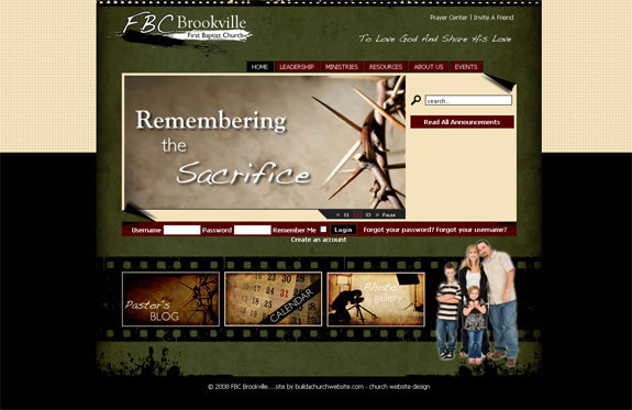 FBC Brookville - Church Web Layout