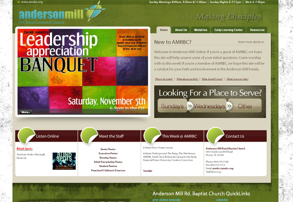 Andersonmill - Church Web Layout Design