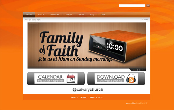 Calvary Church Website Design