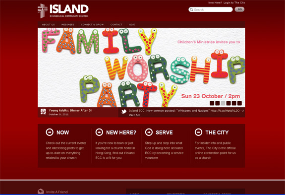 Island - Church Web Design