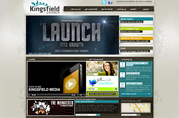 Kingsfield Church Website Design