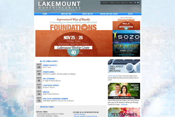 Lakemount Church Web Design