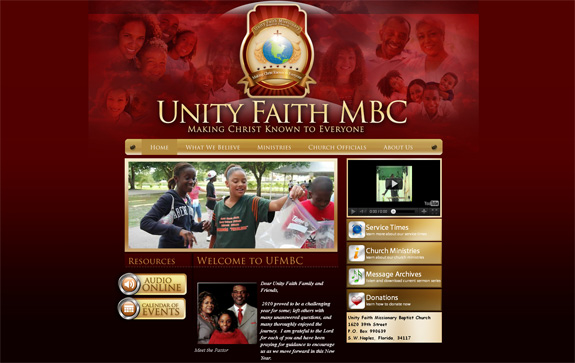 Unity Faith MBC - Church Web Design