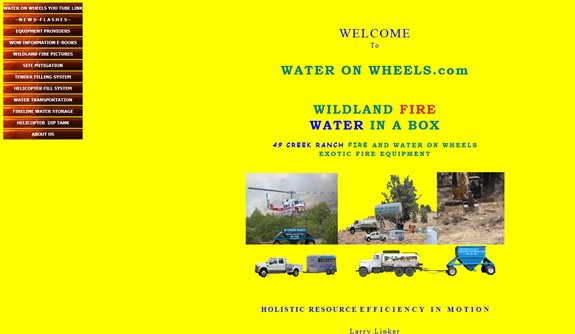 Water on Wheels - Bad Web Design