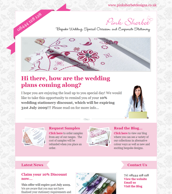 Pink Newsletter Design