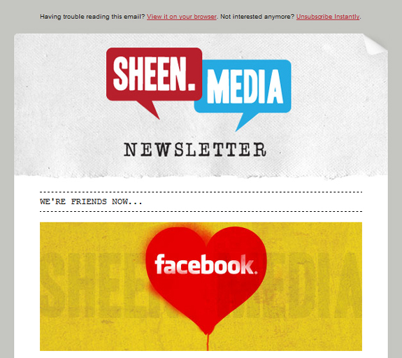 Social Newsletter Design