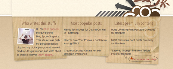 Blog Footer Design
