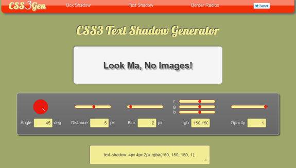 CSS Text Shadow Effects