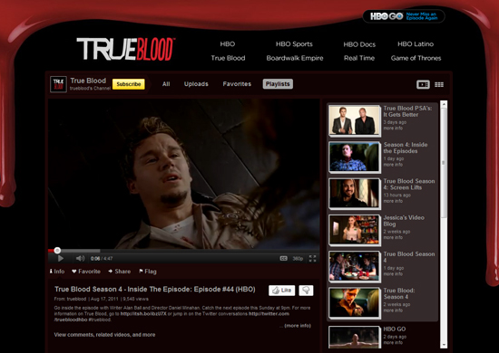 True Blood - Youtube Background Layout