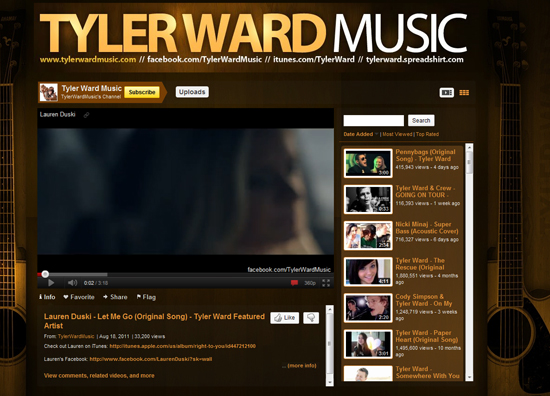 Tyler Ward Music - Youtube Background