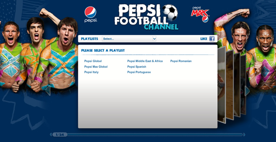 Pepsi - Youtube Background Layouts