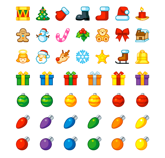 Christmas Holiday Icons