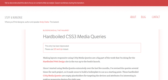 Hardboiled CSS3 Media Queries