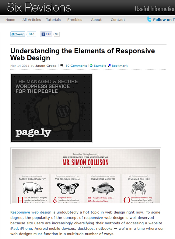 Responsive Web Design Examples Templates and Frameworks 12 Responsive Web Design Tools, Techniques, Templates and Frameworks