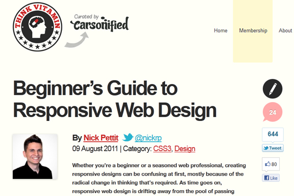 Responsive Web Design Examples Templates and Frameworks 18 Responsive Web Design Tools, Techniques, Templates and Frameworks