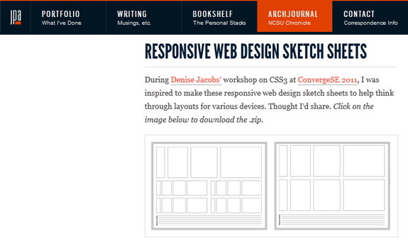 Responsive Web Design Sketch Sheets