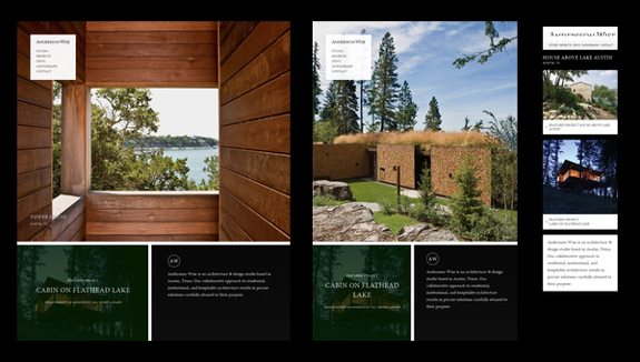 Andersson-Wise Architects - Responsive Web Design Layout