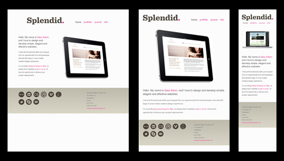 Splendid - Responsive Web Design