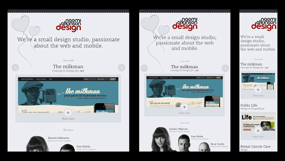 Naomi Atkinson Design - Responsive Website
