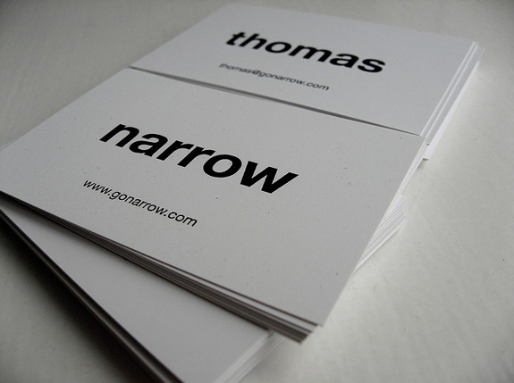 a showcase of typography in business card design the design work