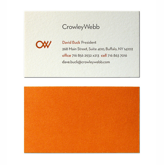 Crowley Webb Business Card