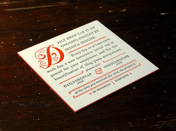 Typography in Business Card