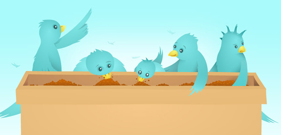 Twitter Illustrations in Web Design