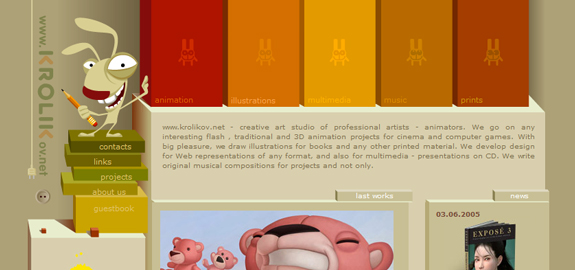 Character Illustration in Web Design Header
