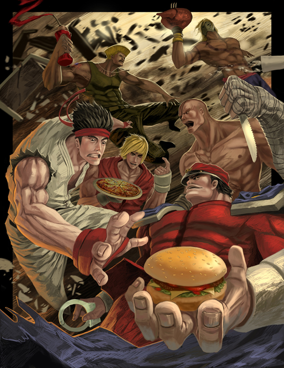 Street Fighter Characters Artwork